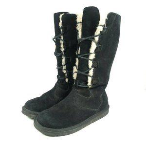 UGG Whitley Black Sheepskin Shearling Tall Boots